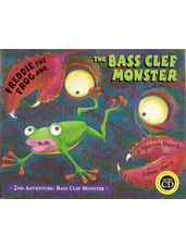Freddie the Frog Bass Clef Poster