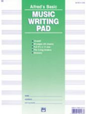 10 Stave Music Writing Pad (8 1/2 x 11)