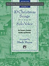 10 Christmas Songs for Solo Voice (Book and CD)